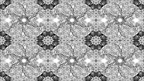 White and black composition motion pattern