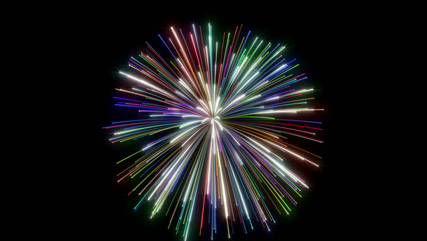 Fireworks on black background Happy Holidays different animation | Shutterstock HD Video #34663954