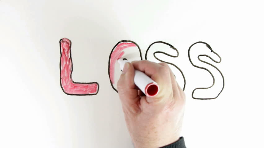 whiteboard time lapse of the word loss for topic introduction in whiteboard time lapse of the word loss for topic introduction in powerpoint presentations etc