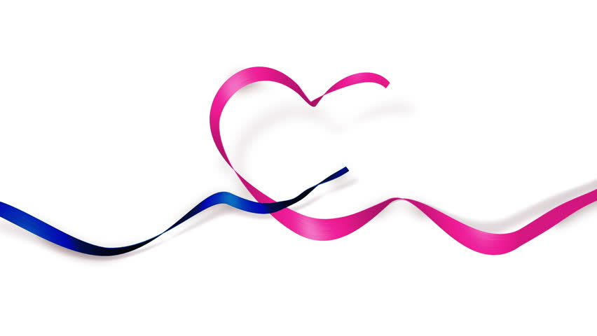 Love You Heart Shape Ribbon Best For Mothers Day Valentines Or Wedding Background