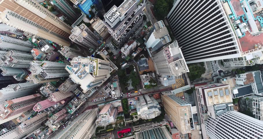 Top view of Hong Kong cityscape | Shutterstock HD Video #34860904