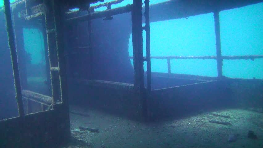 Wreck Underwater, Clip 2 of 5