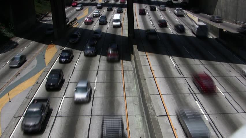 Downtown LA Traffic Time-Lapse  | Shutterstock HD Video #3492524