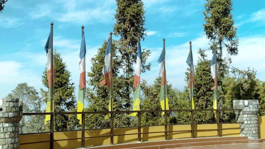Buddhist Flags at Nuwakot, Nepal