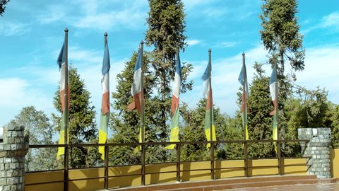 Buddhist Flags at Nuwakot, Nepal