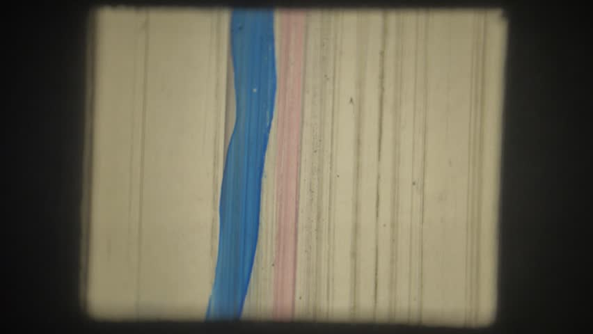 Old movie. 8mm. Painted with colored markers. | Shutterstock HD Video #35023213