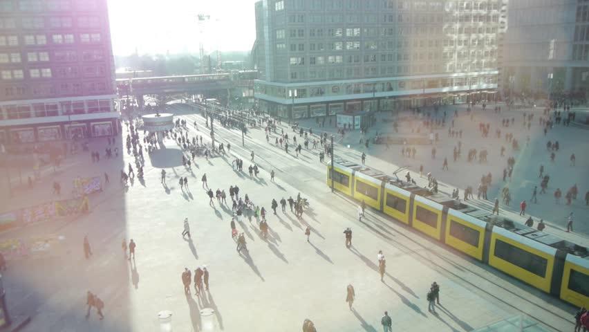 People walking crowd train city street crowded hectic rush cityscape 1080 HD | Shutterstock HD Video #3557654