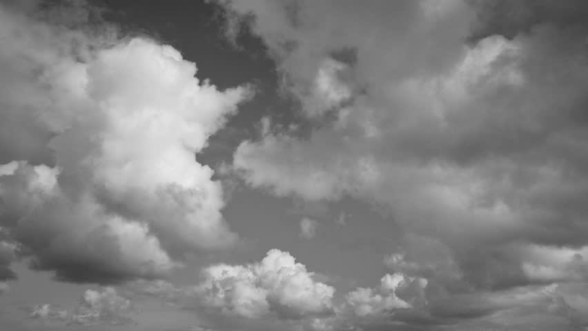 Cloud time lapse - Black and white time lapse