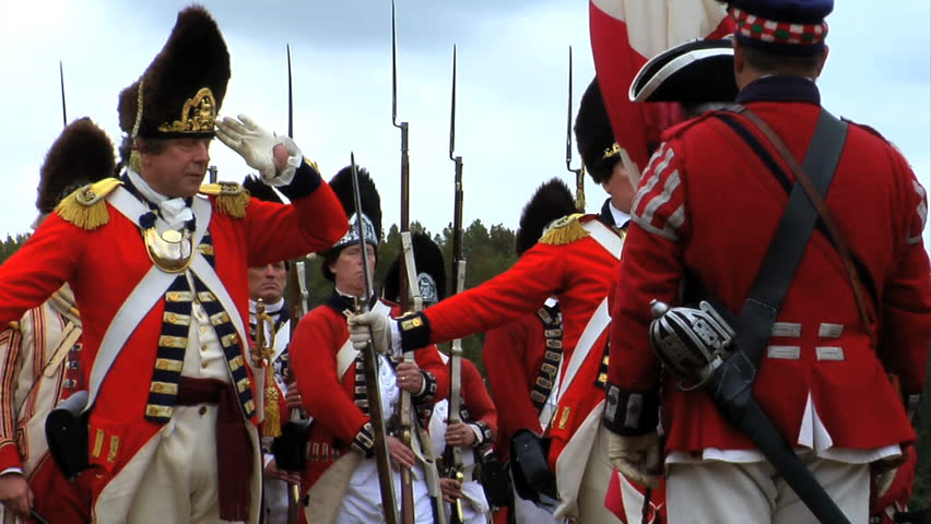 CONCORD, MA - APRIL 2012 - British Redcoats Advance On The Town Of ...