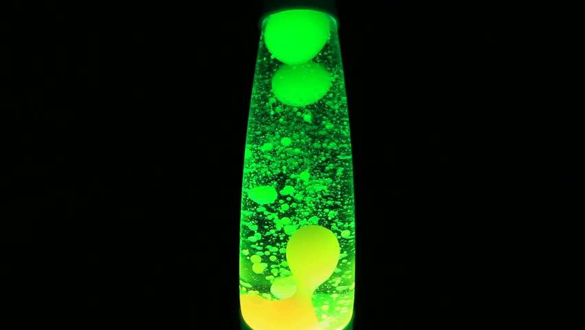 Turbulent green lava lamp slow movements