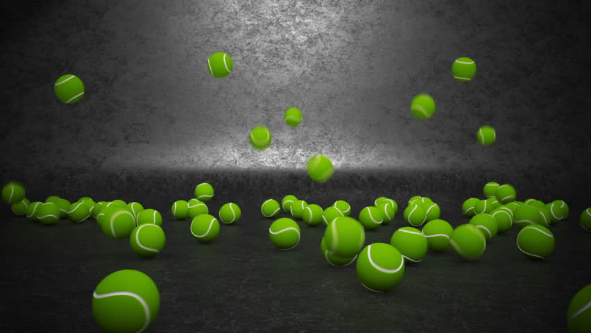 A Lot Of Tennis Balls Stock Footage Video 100 Royalty Free