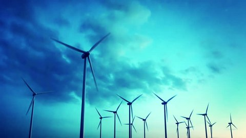 Wind energy turbines are one of the cleanest, renewable electric energy source. Electricity is generated by electric generators hidden inside turbine.