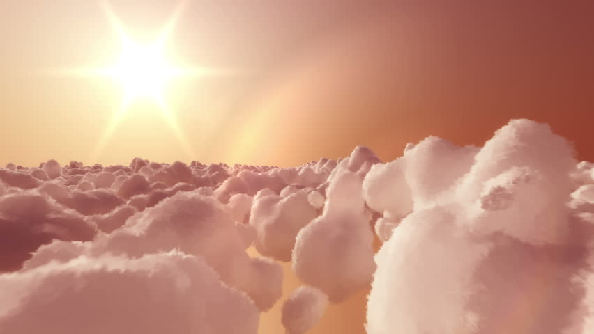 In this inspiring video, camera is flying high above clouds in direction of rising sun. Flying till not so long ago was just an dream and this footage have a bit of dreamy look. Animation is loopable.