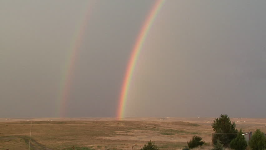 Double Rainbow. The outer, or second, rainbow is also called a secondary rainbow.