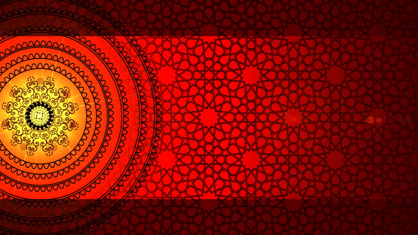 Red Pattern With Circles Design