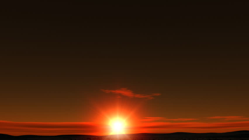 Animated sunrise | Shutterstock HD Video #3668354
