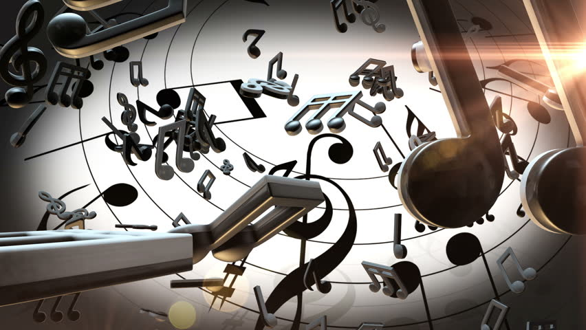Musical Notes Background Stock Footage Video