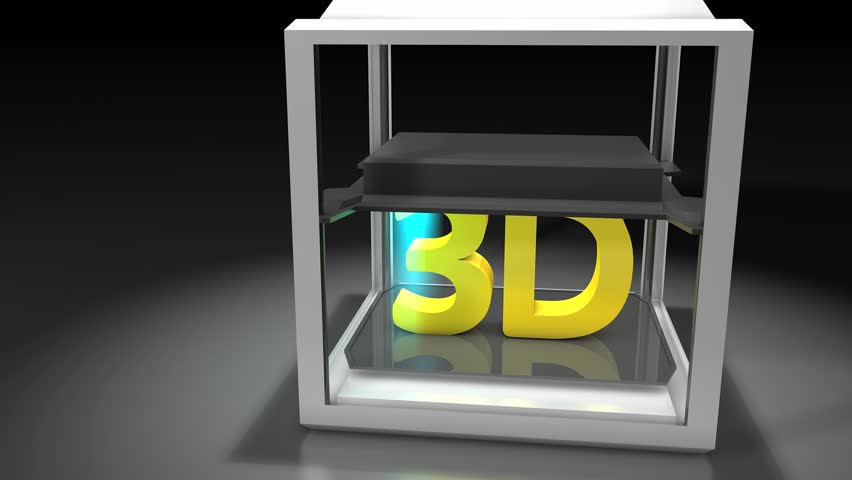 3d Printing. Matte included   Shutterstock HD Video #3702869