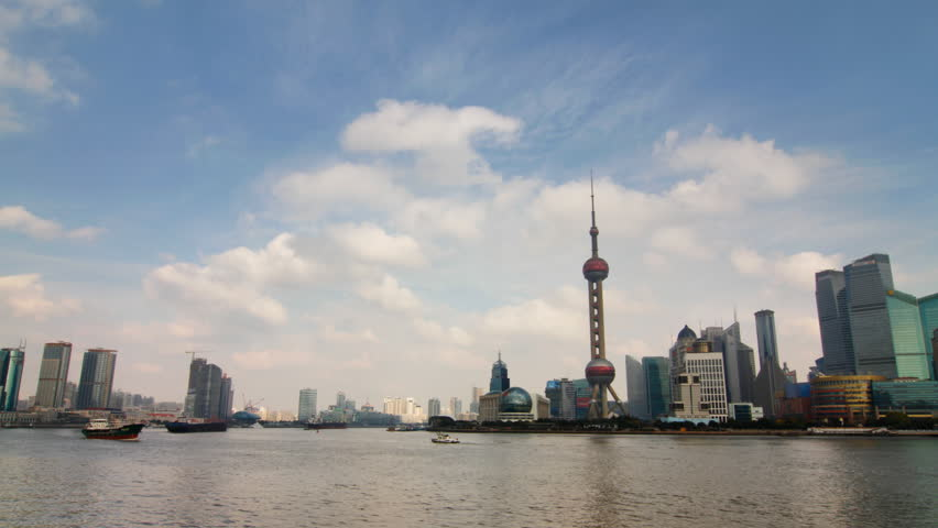Time lapse of Shanghai skyline- Shanghai, China.
