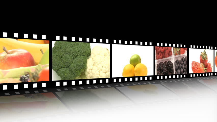 Fruit/vegetables film reel
