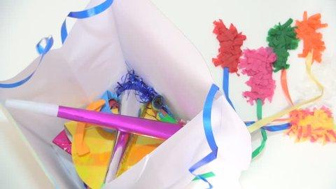 Woman Filling Piñata with Party Toys for Celebrating Children Birthday, Pinata