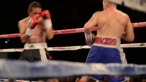 NEW YORK - APRIL 4: Boxing at the Roseland Ballroom on April 4, 2013 in New York. The Roseland Ballroom is a multi-purpose hall in New York City's theater district, on West 52nd Street.