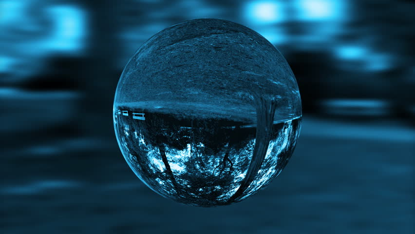 Glass orb or dew,environmental conservation, looping
