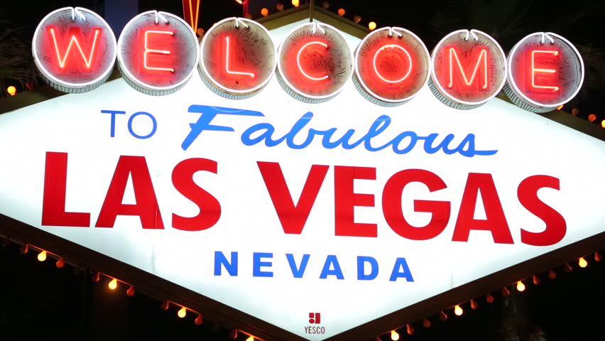 Welcome to Las Vegas sign at night | Shutterstock HD Video #3783644