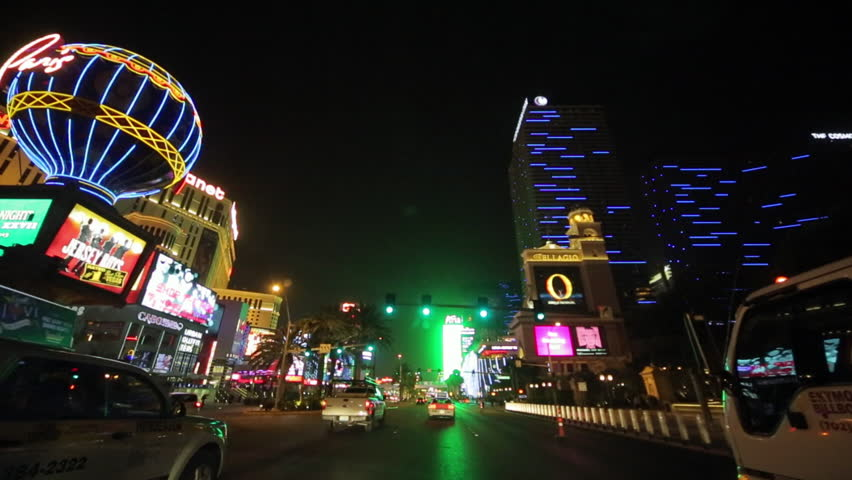 Las Vegas driving shot at night | Shutterstock HD Video #3791210