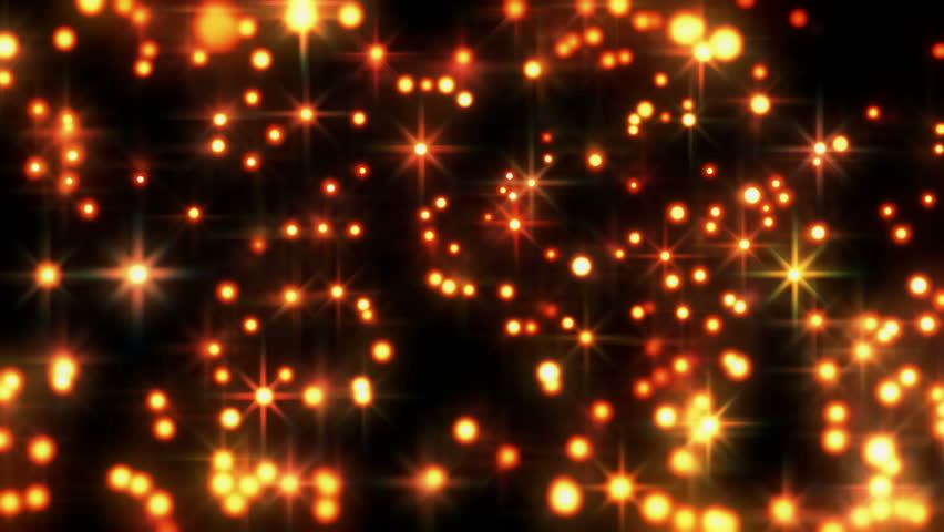 Star Bright Motion Background, Bright Golden Star Like Spheres Glowing Makes For