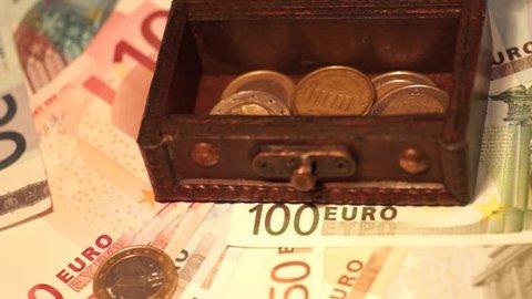 Euro banknotes and euro coins / euro money