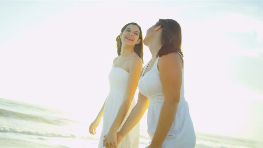 Pretty Smiling Teenage Girls Walking Stock Footage Video -5645