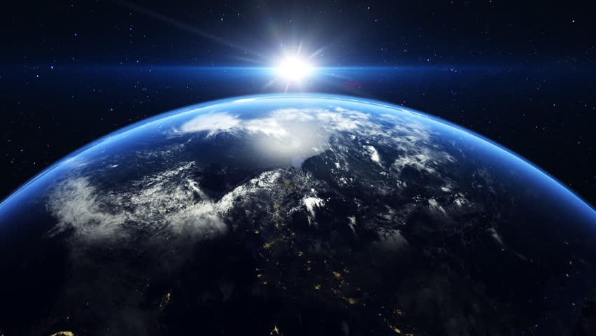 Sunrise over the earth seen from space.     Shutterstock HD Video #3812429