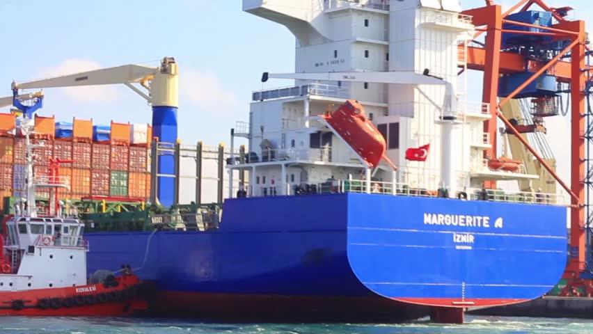 ISTANBUL - DEC 01: Haydarpasa Port on December 01, 2011 in Istanbul, Turkey.