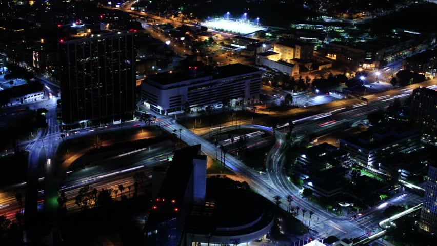 Night Cityscape Timelapse 142 Los Angeles Freeway Traffic Loop   Shutterstock HD Video #3827834