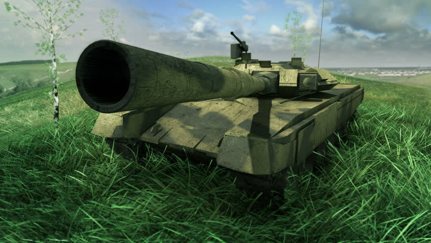 An army tank fires and recoils on a battlefield  | Shutterstock HD Video #3840404