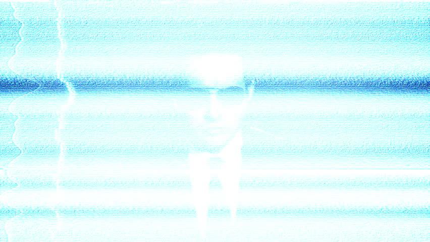 Secret Agent On Closed Circuit Damaged TV