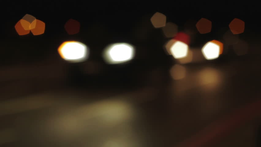 Cars headlights out of focus at night time-lapse | Shutterstock HD Video #3848594