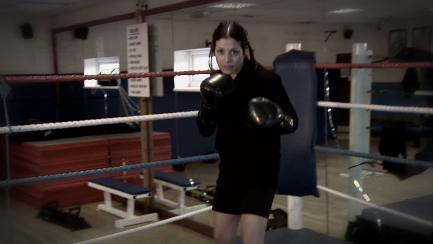 Knockout! - POV of a boxing match as a female boxer knocks out the viewer