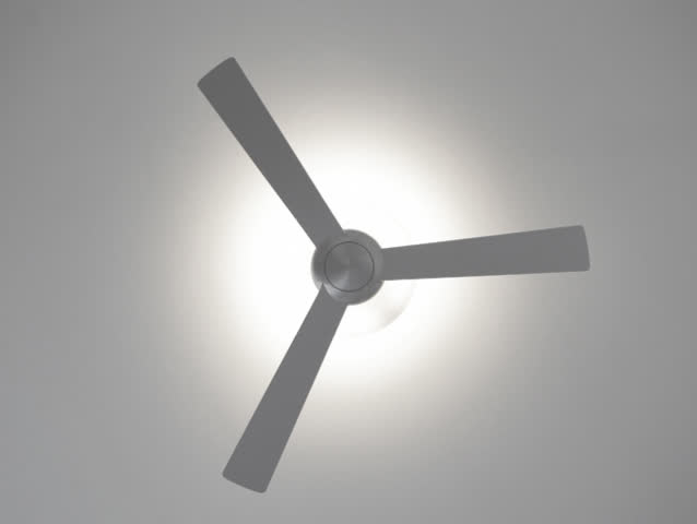 Stock video clip of ceiling fan starts rotate shutterstock sd0030silver ceiling fan rotating start spin aloadofball Gallery