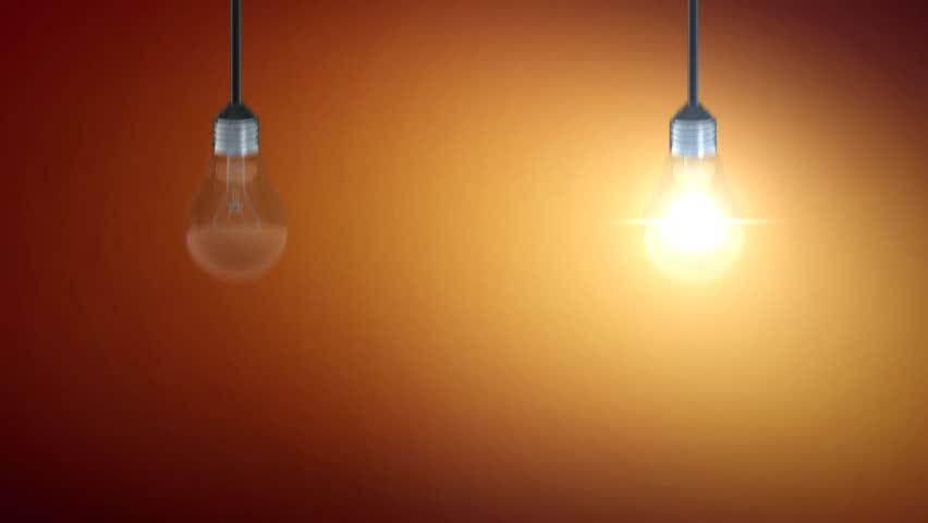 Light Bulb Motion On Brown Background