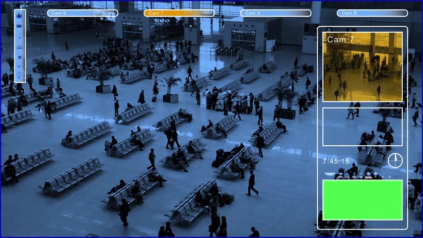 Surveillance with green screen | Shutterstock HD Video #3869156