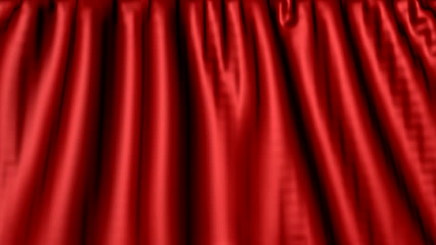 Red Curtain on green background