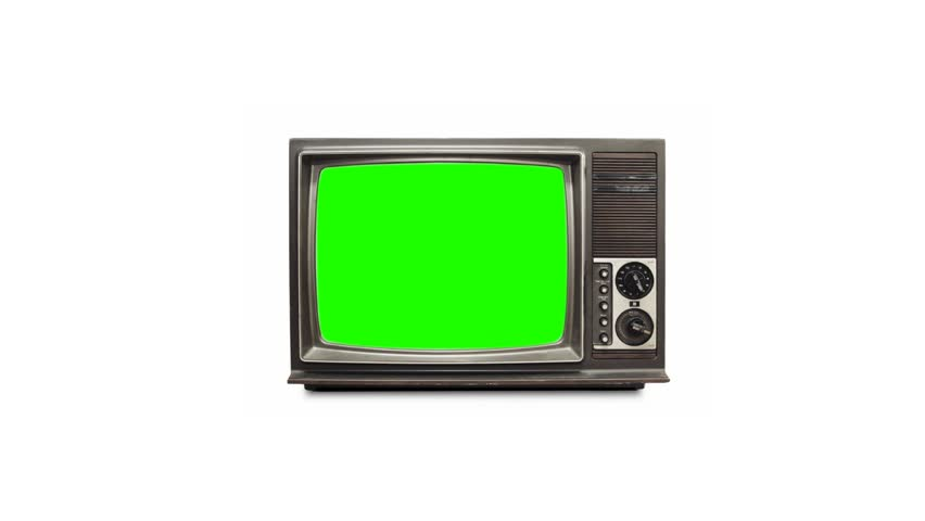 TV screen with green screen