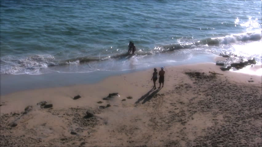 Family Plays at Beach | Shutterstock HD Video #3894494