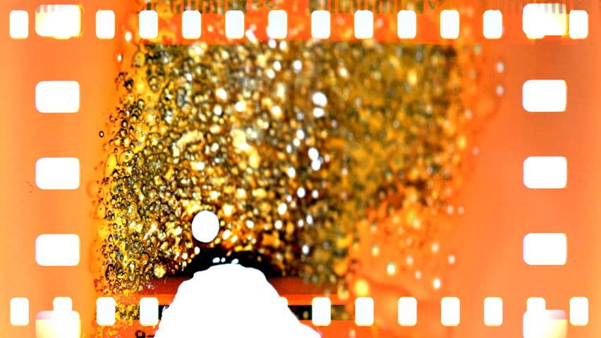 Film burn from the one side. | Shutterstock HD Video #3952274