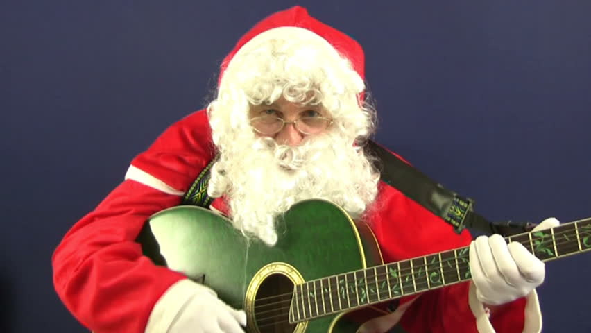 Santa playing christmas Carols