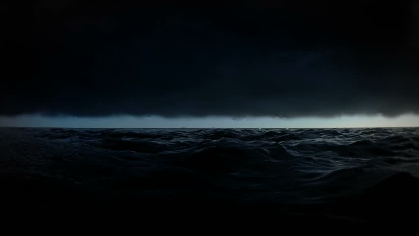 Lost in the ocean at night