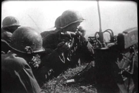 1940s - American troops attack the Japanese at Okinawa.