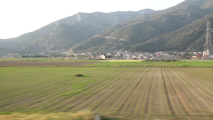 Window View from a Car, Bus, Train. Traveling HD videos - No11
